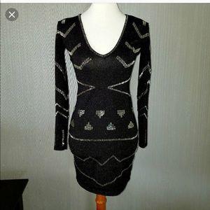 Victoria Secret beaded sweater black dress size S